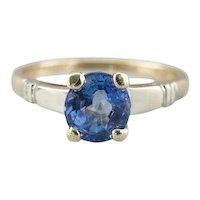 Upcycled Ceylon Sapphire Engagement Ring