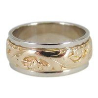 Ornate Floral Wedding Band
