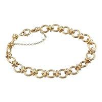 Gorgeous & Easy to Wear Decorative Link 18 Karat Gold Bracelet, Really Lovely!!
