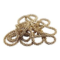 Long Woven 14 Karat Yellow Gold Chain, Gorgeous Vintage Opera Length Chain