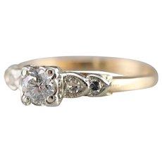 Retro Sweetheart Diamond Engagement Ring