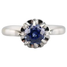 Buttercup Sapphire Solitaire Ring