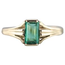 Sweet Vintage Emerald Solitaire Ring