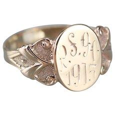 Antique 1915 Unisex Signet Ring