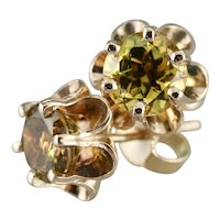 Buttercup Mali Garnet Stud Earrings