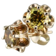 Buttercup Mali Garnet Stud Earrings