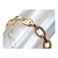 Vintage Oval Link Chain Bracelet