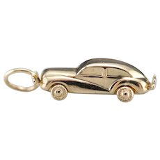 1940's Car Charm With Moving Wheels