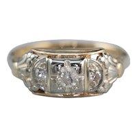 Classic Early Retro Era Diamond Ring