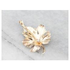 Diamond Grape Leaf Pendant