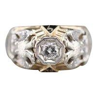 Men's Masonic Eagle Diamond Ring