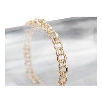Vintage Double Link Charm Bracelet