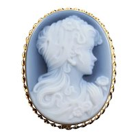 Vintage Onyx Cameo Pendant or Brooch