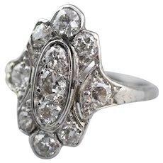 Art Deco European Cut Diamond Dinner Ring