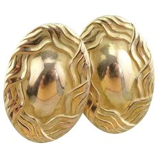 Ornate Upcycled Cufflink Stud Earrings