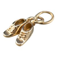 Vintage 14 Karat Gold Baby Shoes Charm