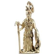 Athena, Goddess of War and Wisdom Charm