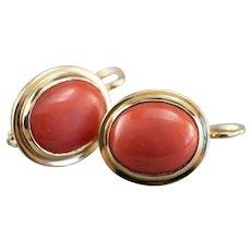 Vintage Coral Drop Earrings