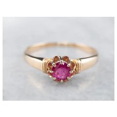 Antique Buttercup Ruby Ring