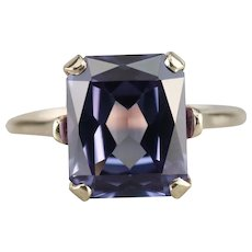 Mid Century Synthetic Alexandrite Ring