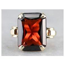 Vintage Garnet Cocktail Ring