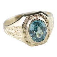 Ostby & Barton Blue Zircon Statement Ring