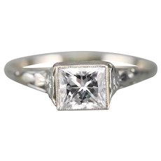 Upcycled GIA Certified Diamond Solitaire Ring