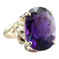 Botanical Themed Amethyst Cocktail Ring