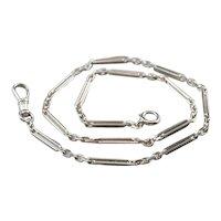 14K Bar Link Watch Chain
