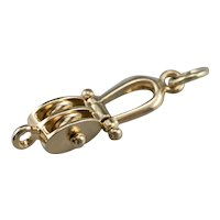 Polished Double Boat Pulley Pendant