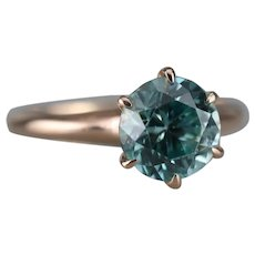 Stunning Upcycled Zircon Solitaire Ring