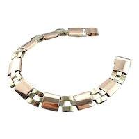 Retro Era Geometric Link Vintage Bracelet