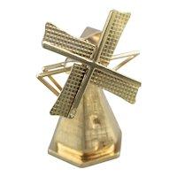Large Moving Windmill Charm Pendant