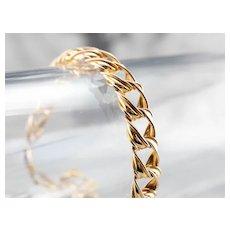 Italian 14 Karat Gold Twist Link Bracelet