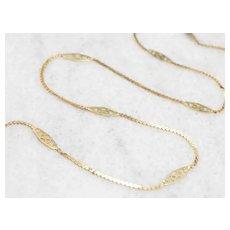 Vintage Filigree Link Chain