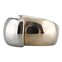 Modernist Two Tone Domed Bypass Band