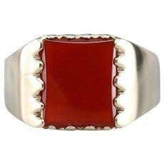 Vintage Carnelian Men's Ring