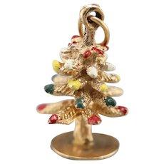 Vintage Enameled Christmas Tree Charm