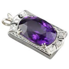 Upcycled Amethyst and Diamond Pendant