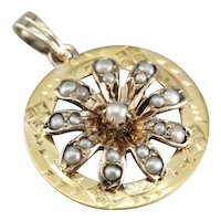 Upcycled Cultured Seed Pearl Starburst Pendant