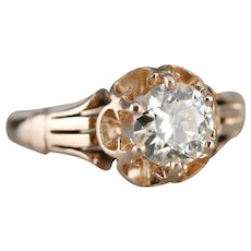 Lovely Upcycled Round Brilliant Diamond Solitaire
