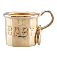 """Vintage """"Baby"""" Cup Charm"""