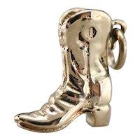 Vintage Cowboy Boot Charm or Pendant