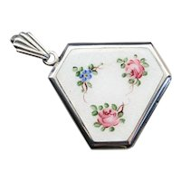 Vintage Floral Enameled Locket