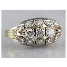 Vintage Multi Diamond Cocktail Ring