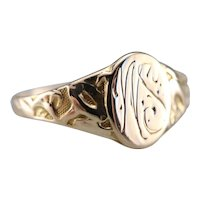 "Antique ""WS"" Monogrammed Signet Ring"