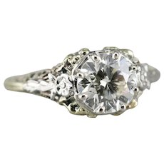 Spectacular Diamond Solitaire Filigree Ring