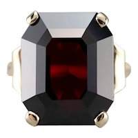 Bold Vintage Garnet Cocktail Ring