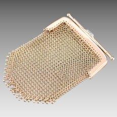 Upcycled Mesh Diamond Coin Purse