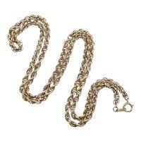 Vintage Rope Twist Chain Necklace